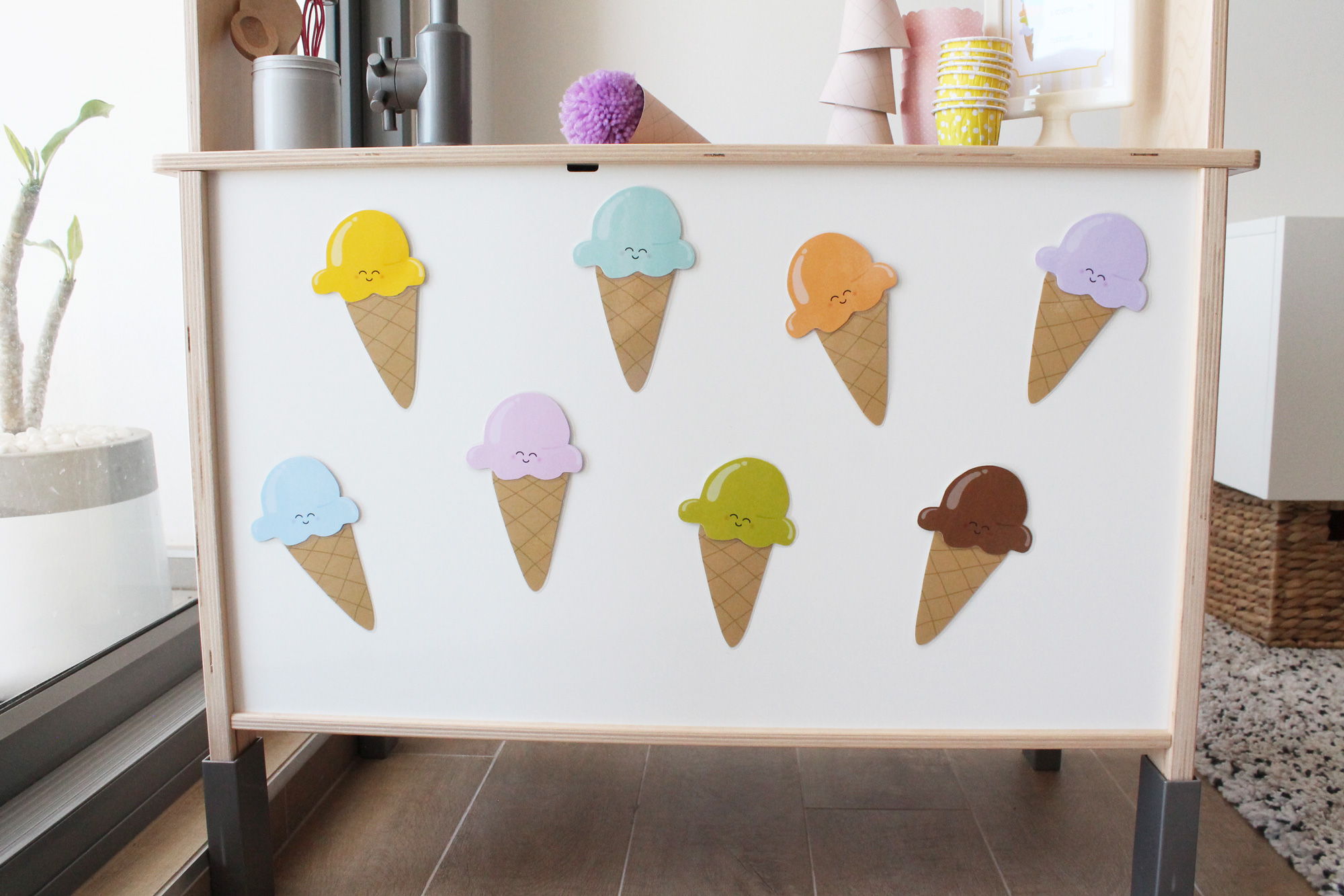 printable ice cream matching game