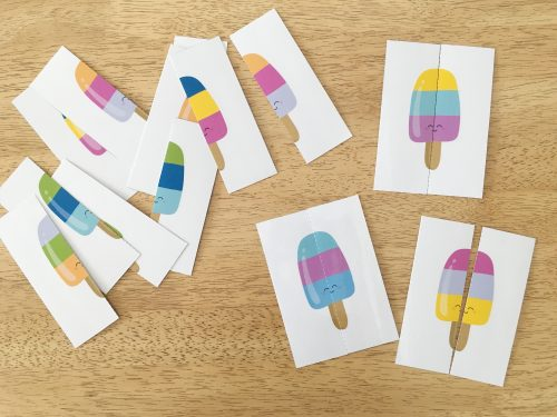 popsicle matching game printable