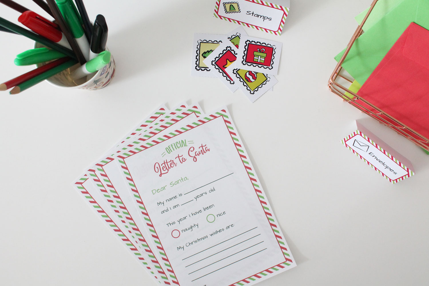 Letters to Santa Printables for Dramatic Play