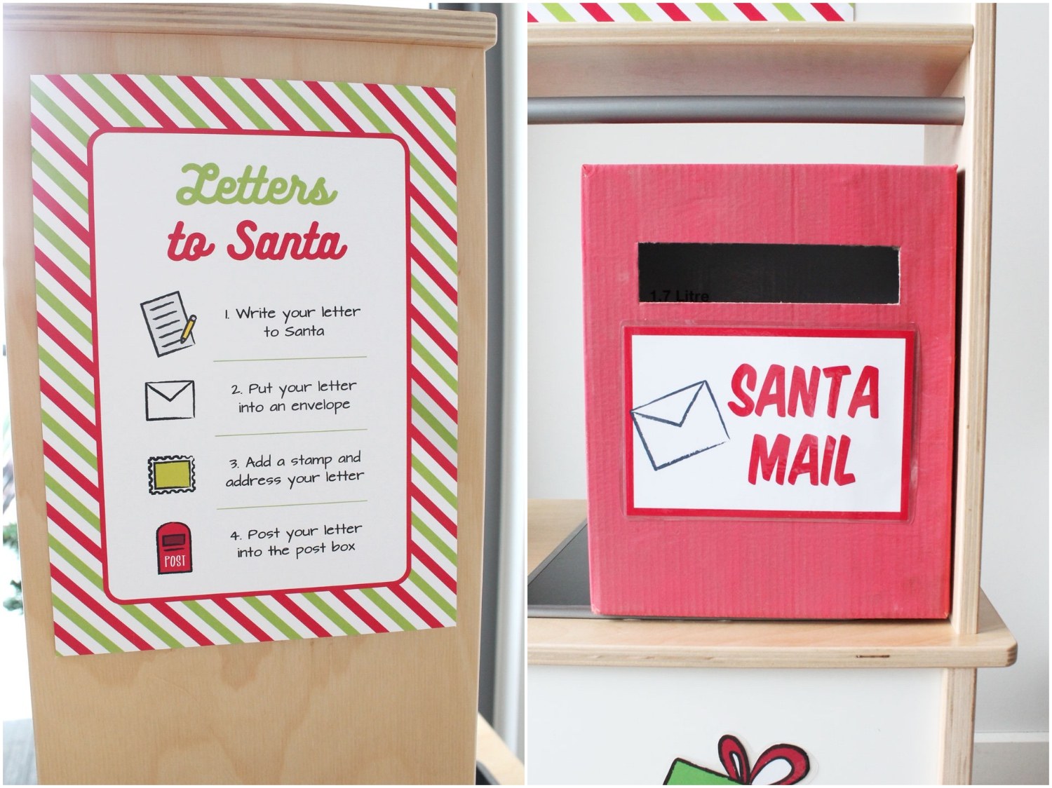 Letters to Santa Printables for Dramatic Play with ikea lay kitchen