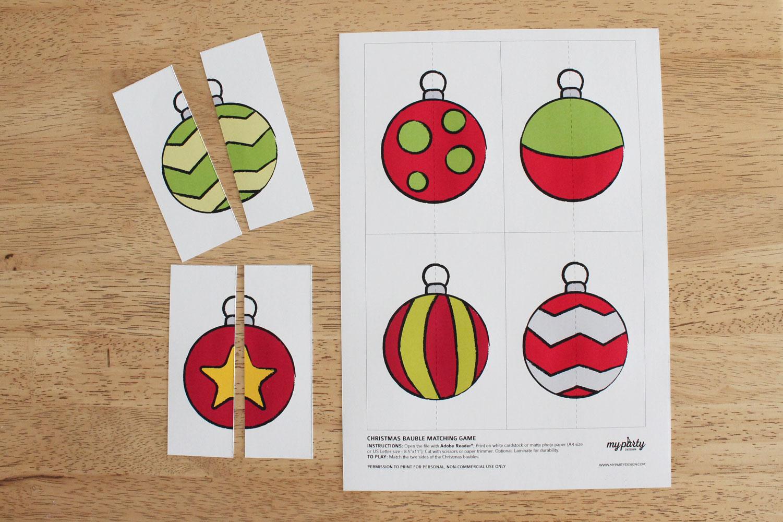 Christmas Printable matching game