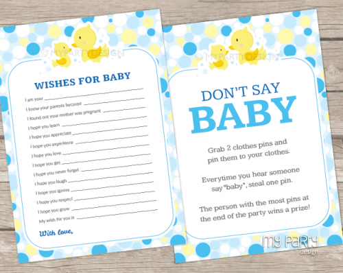 rubber duck baby shower games