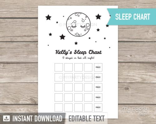 printable sleep chart for toddlers