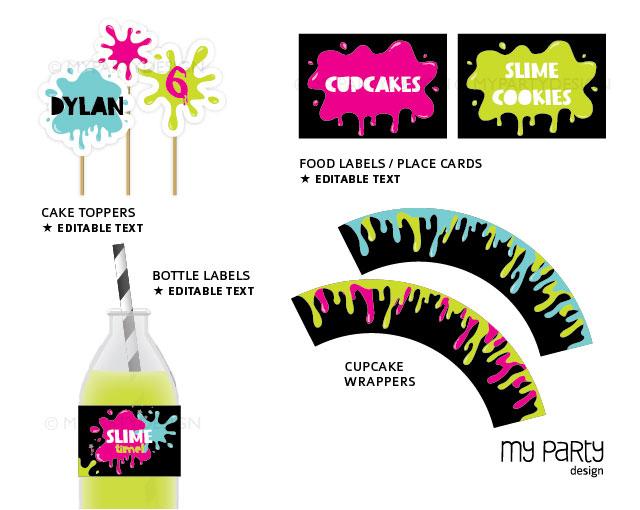 printable slime party