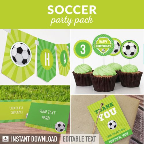 soccer party decoration printables