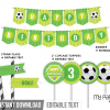 printable soccer birthday party decorations