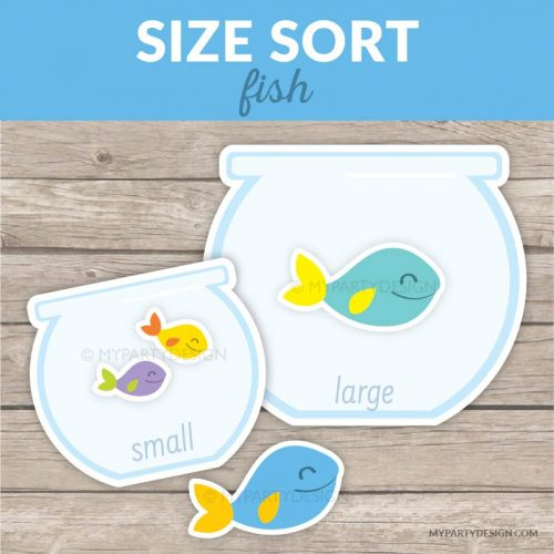 printable size sorting game