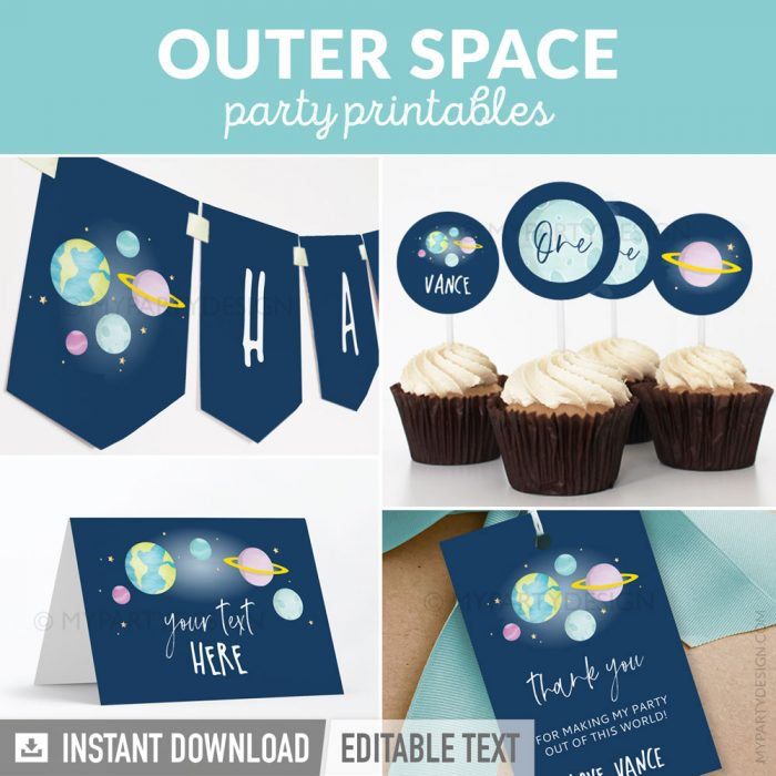 outer space party printables