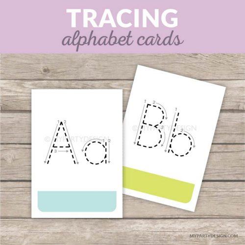 printable alphabet tracing cards