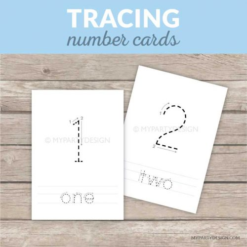 printable number tracing cards