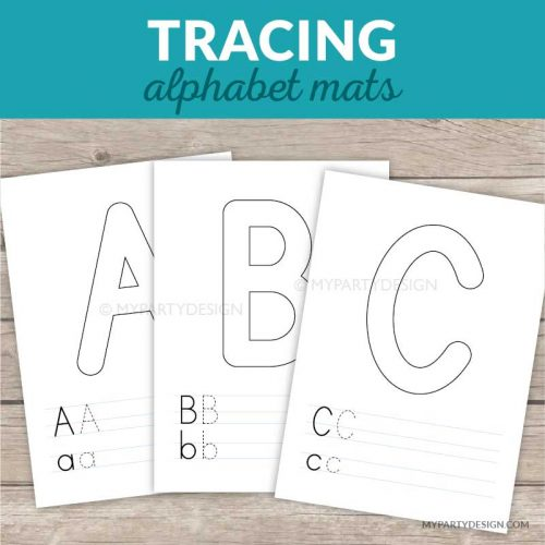 printable alphabet tracing mats