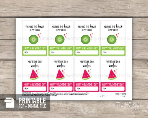printable valentines day cards fruit theme