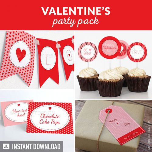 valentine's day party decoration printables