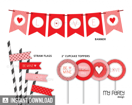printable valentines day party decorations