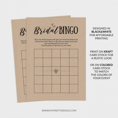 printable bridal bingo