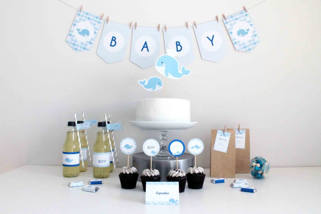 whale baby shower party ideas and decorations