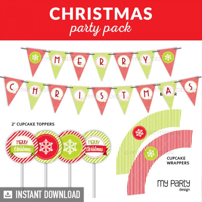 Christmas Party Printable Decorations