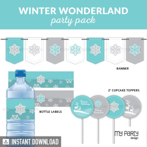 Winter Wonderland Party Printable Decorations