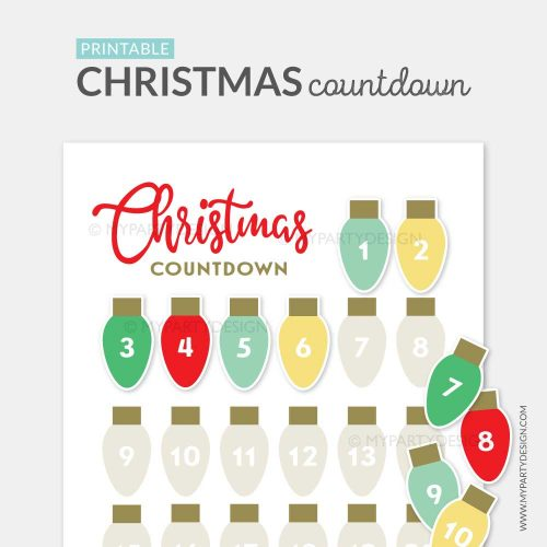 printable christmas advent calendar