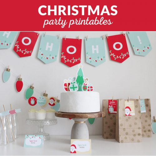 christmas party printables and decorations