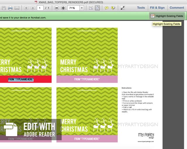 editable christmas bag topper template