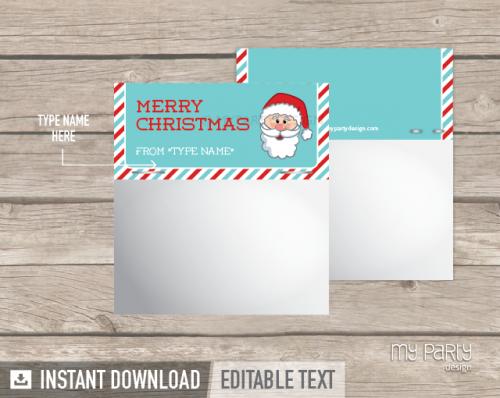 printable christmas bag toppers
