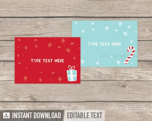 christmas party food labels printable