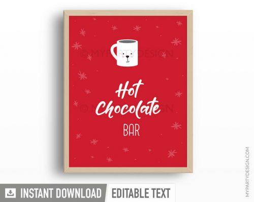 printable hot chocolate bar sign