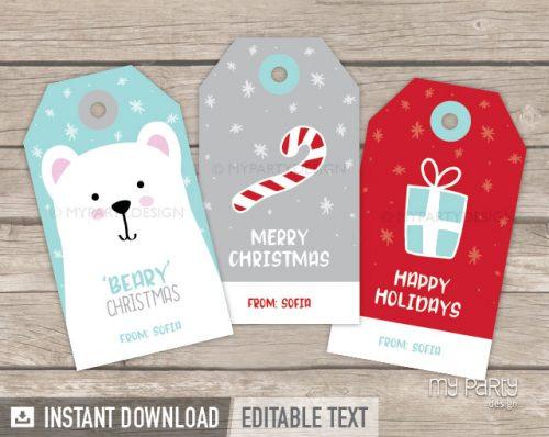 christmas gift tags printable
