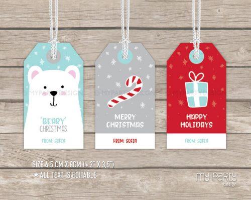 christmas gift tags printable with editable text