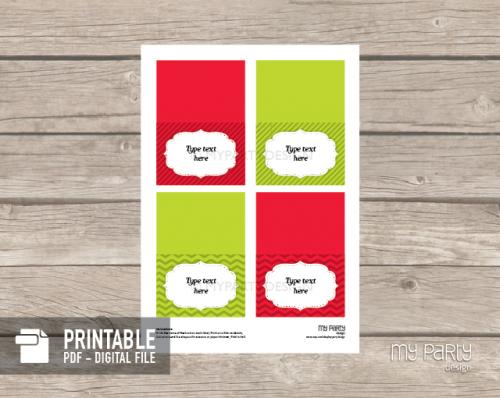 printable christmas food labels