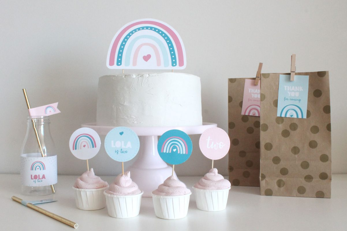 boho rainbow birthday party decorations