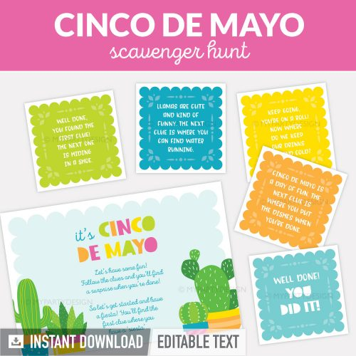 cinco de mayo scavenger hunt clues for kids