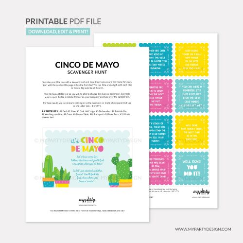 printable cinco de mayo scavenger hunt clues