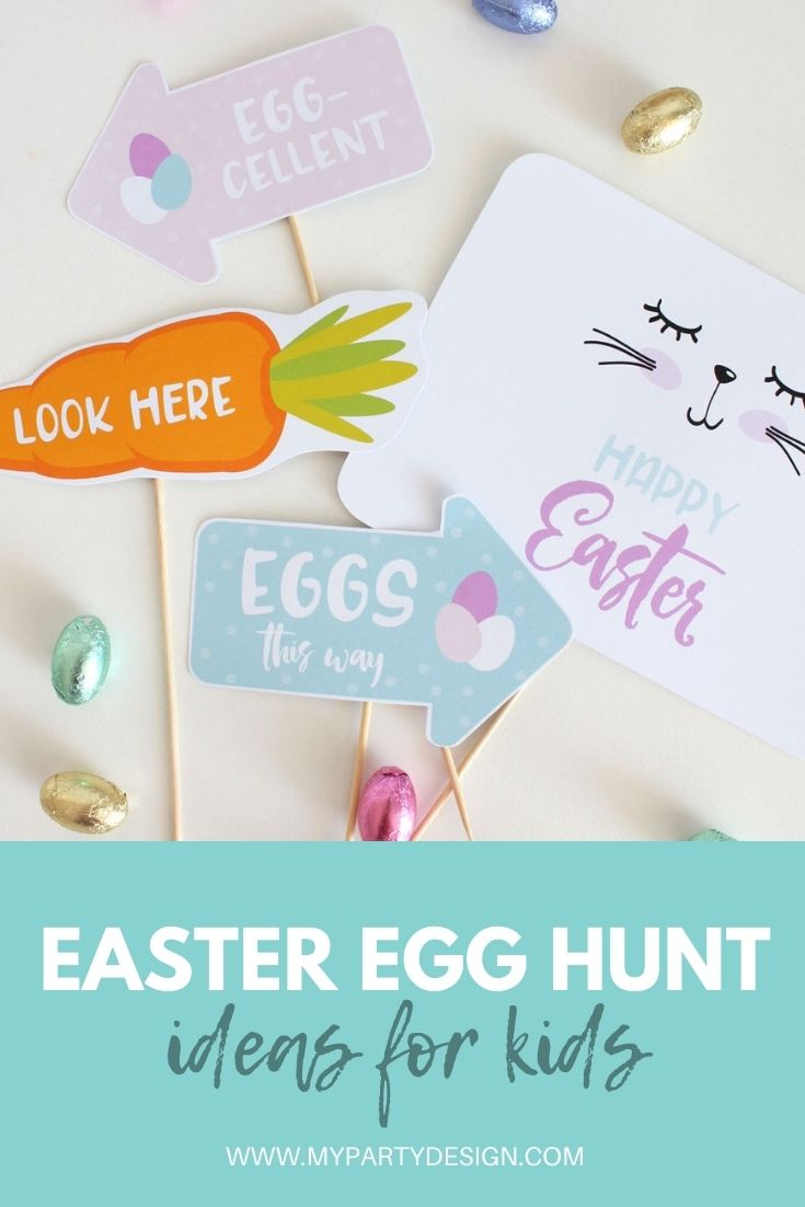 Easter egg hunt signs, clues and ideas