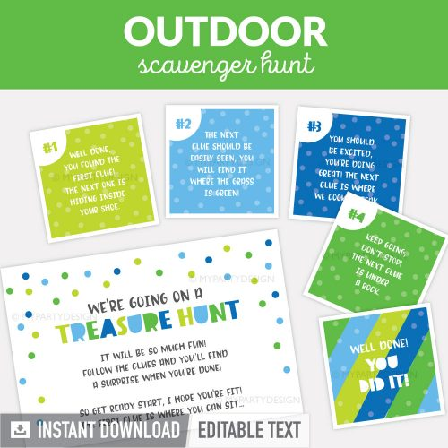 outdoor scavenger hunt clues for kids